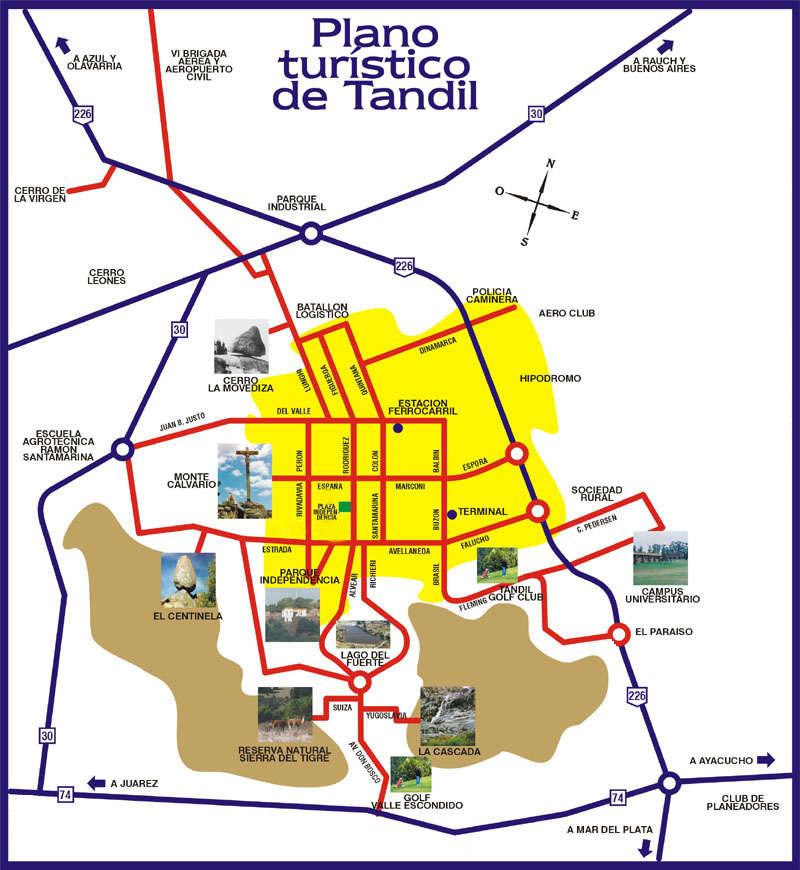 Plano turistico de tandil